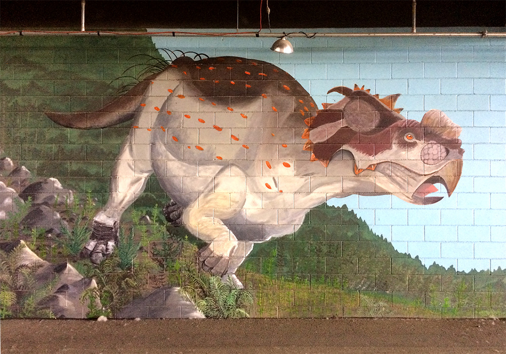 Pachyrhinosaurus at the Alaska State Fair, Palmer