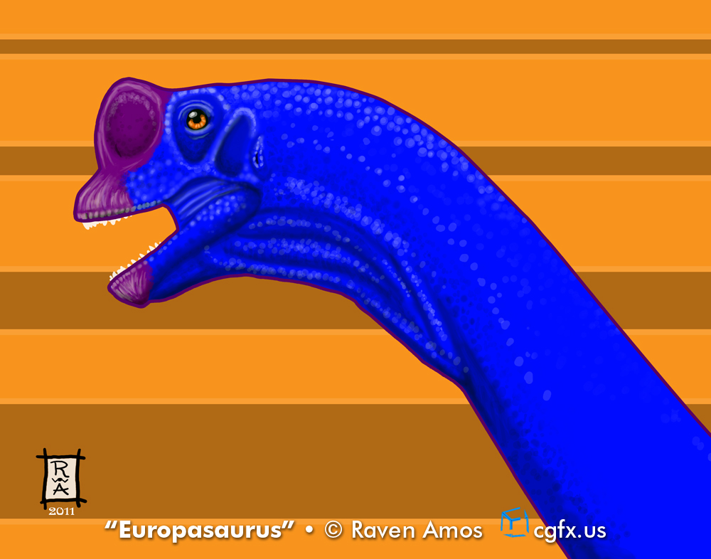 Profile of a Europasaurus, a small, horse-sized sauropod from Jurassic Germany.