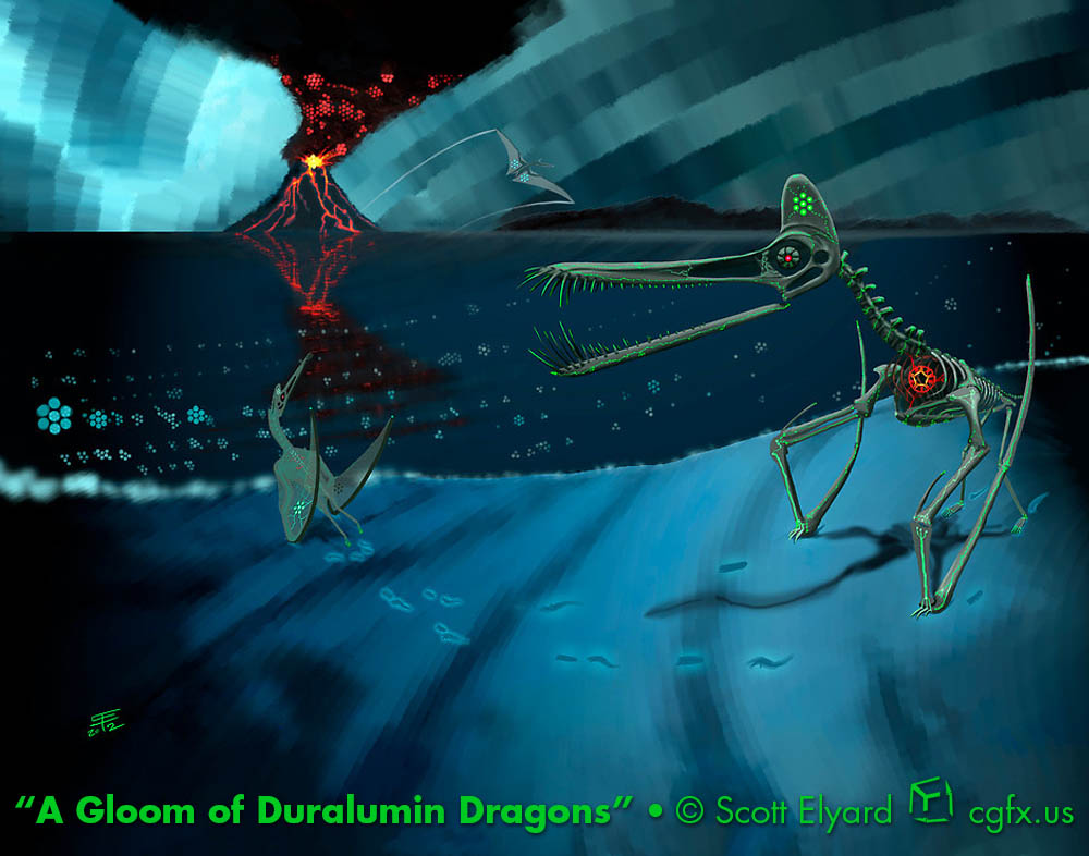 A Gloom of Duralumin Dragons: electrotiki forms of Guidraco