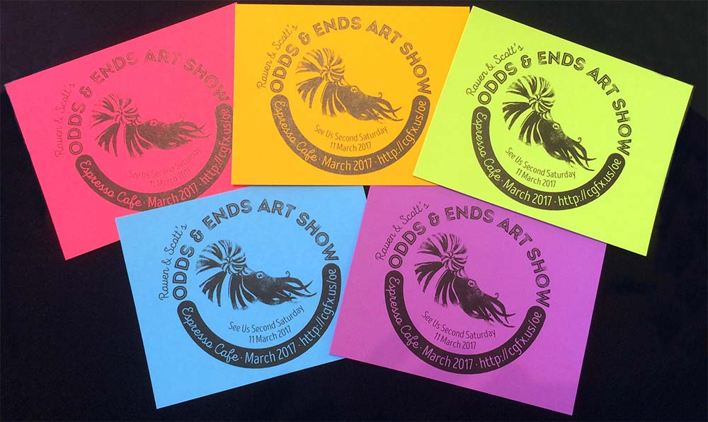 Odds and Ends Art Show Postcards