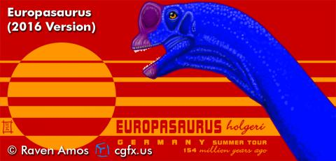 A Design By Humans exclusive version of my 2011 Europasaurus portrait.