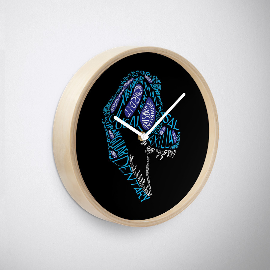 Tyrannosaurid calligram clock.